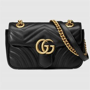 Gucci GG Marmont Mini Quilted Chain Shoulder Bags